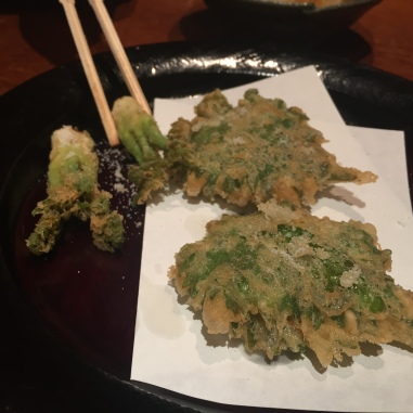 Uni in Shiso Leaf Tempura