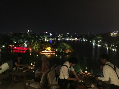 View from the roof deck at Cầu Gỗ