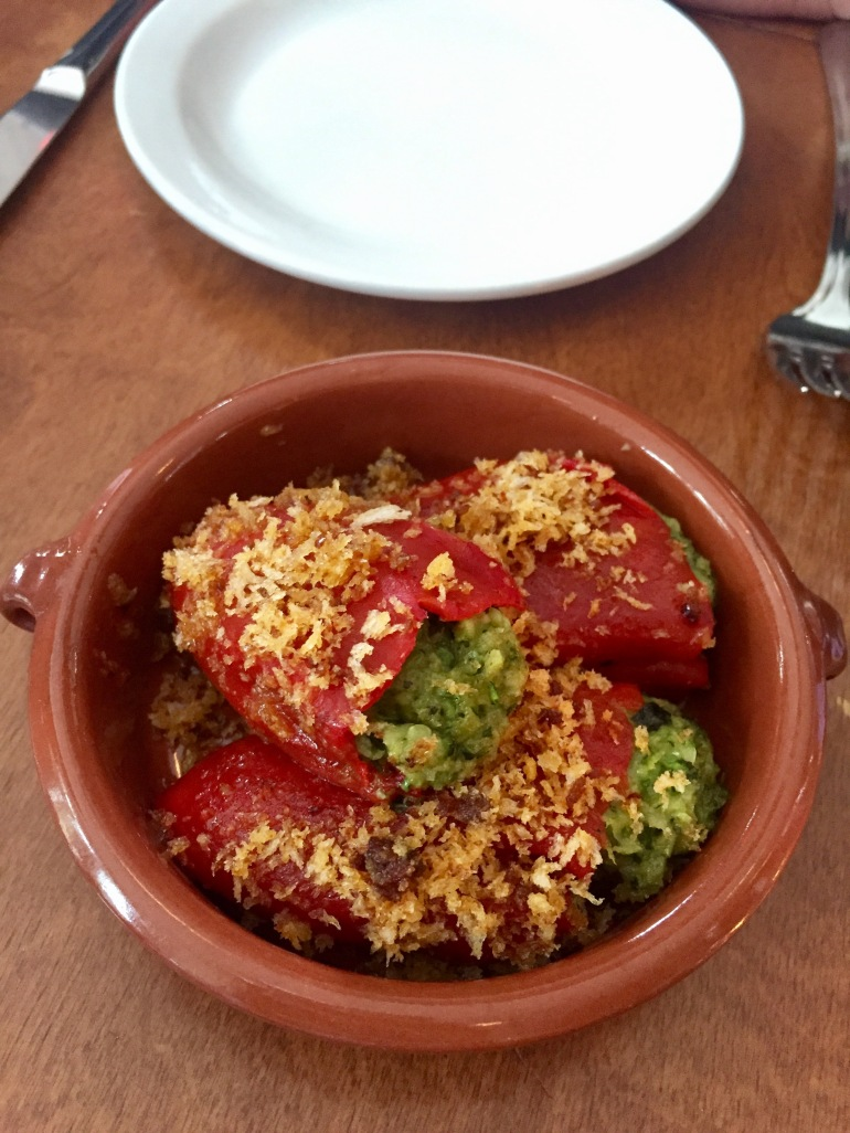 Delicious zucchini stuffed peppers at Ask for Luigi