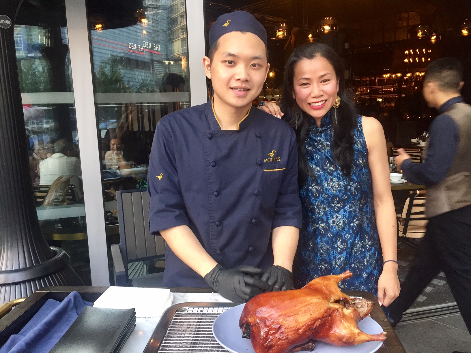 With our personal Peking Duck Carver