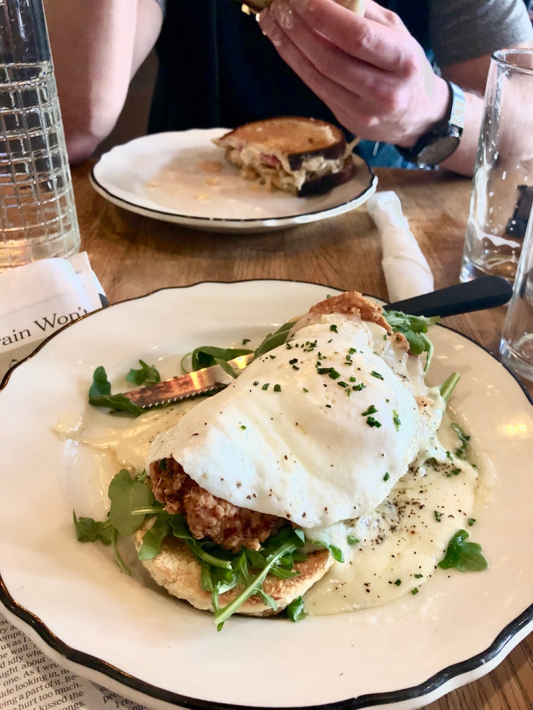 The chicken and biscuit at St. John's Bar and Eatery